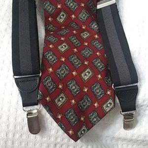 Ralph Lauren Chaps silk tie & suspenders $63 +Gift